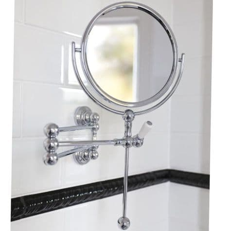 6918 Perrin & Rowe Wall Mounted Shaving Mirror